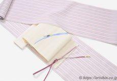 小千谷縮のコーディネート 蛍の麻八寸織名古屋帯と