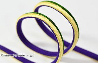 帯締め 丸唐大和組(本紫×黄蘗×常磐緑)