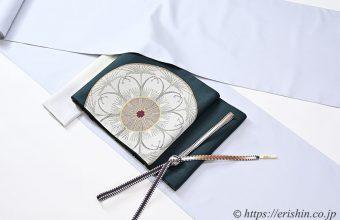 勝山さと子 絹雲織に洛風林袋帯(ラ・レコルト/天鵞絨色)のコーディネート