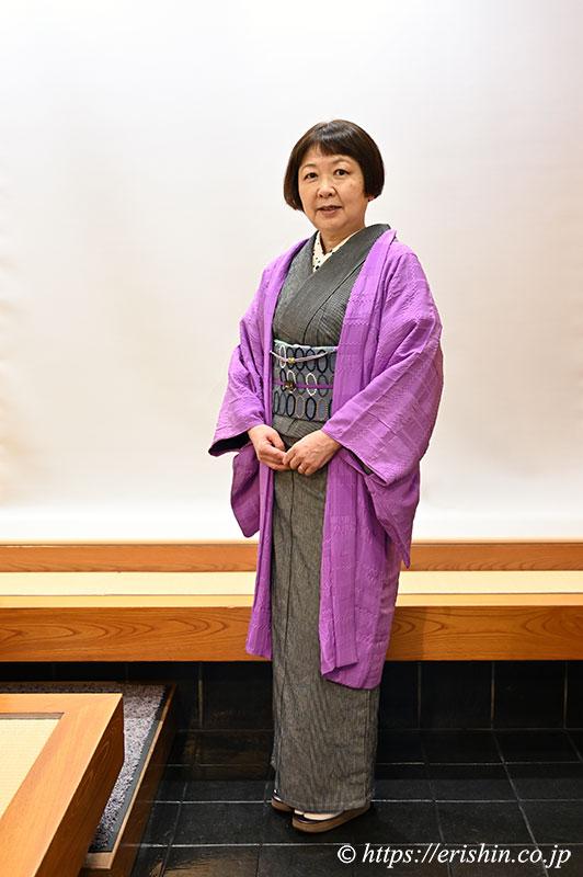 S様お誂え 呉服えり新オリジナル羽織「市松on市松」