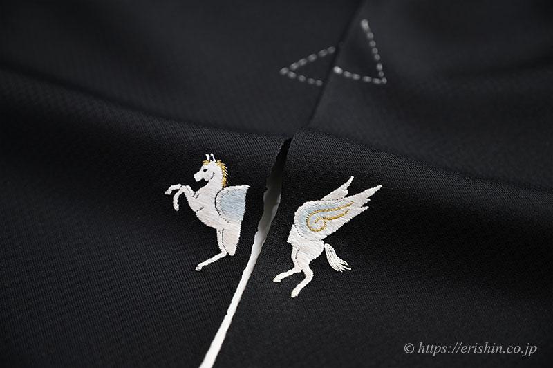 『刺繍洒落紋・飾り紋のお誂え』ペガサス・天馬