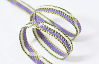 帯締め 高麗平家納経経巻組(紫苑色×松葉色×白)