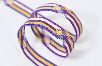 帯締め 高麗平家納経経巻組(京紫色×花葉色×白色) 和小物さくら